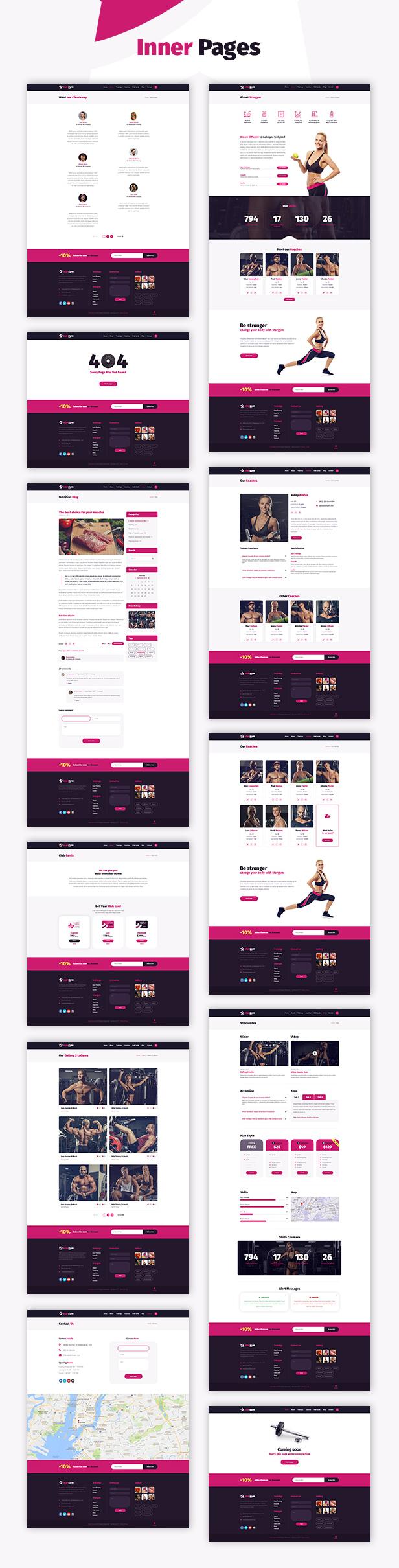 Stargym - Gym Trainer, Fitness Club and Gym WordPress Theme - 2